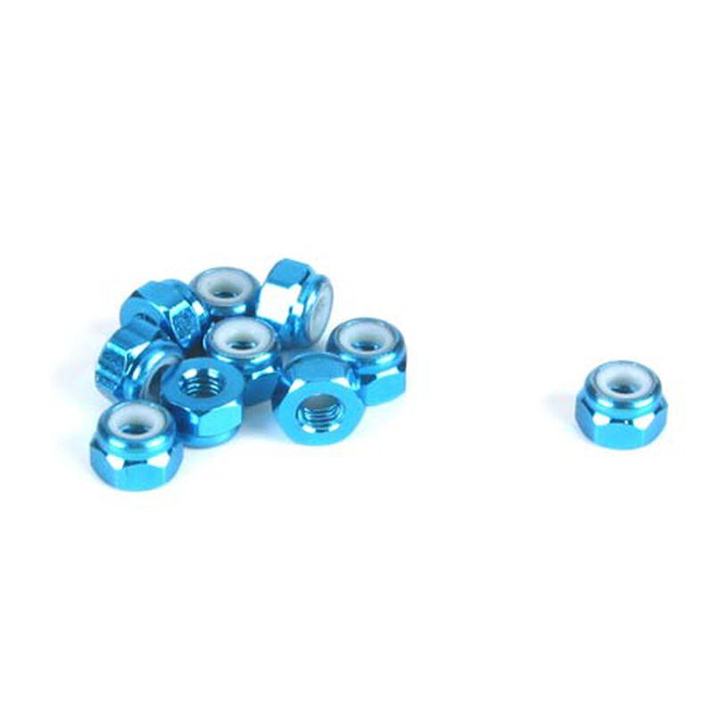 3mm Aluminum Lock Nut, Blue (10)