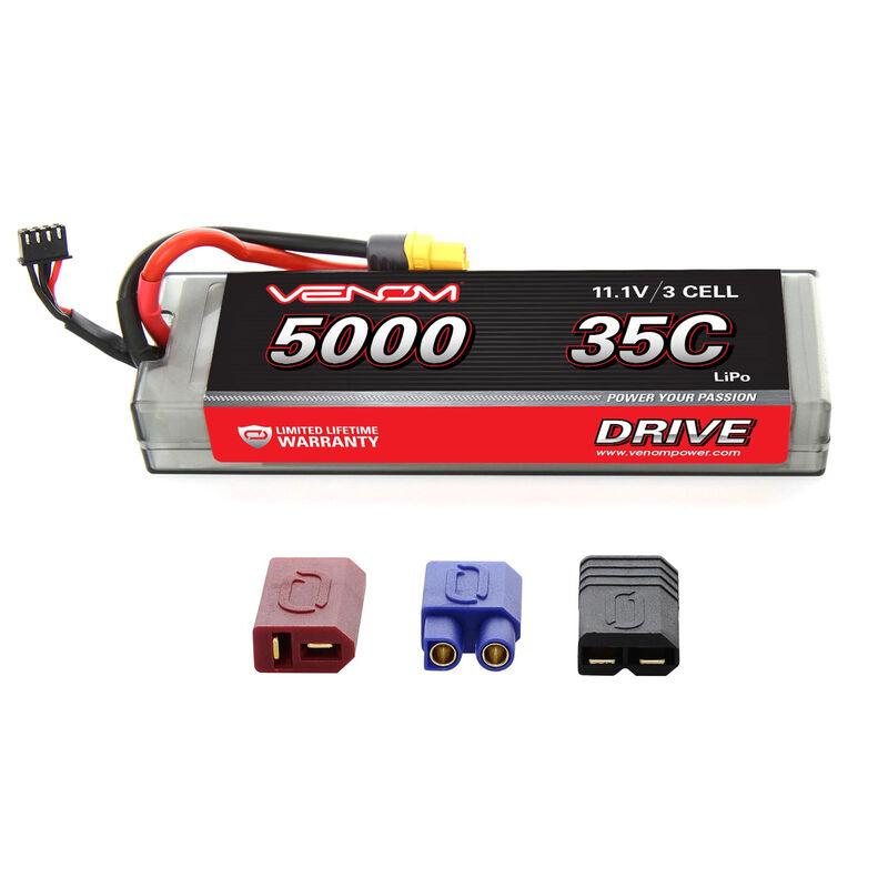11.1V 5000mAh 3S 35C DRIVE Hardcase LiPo Battery: UNI 2.0 Plug