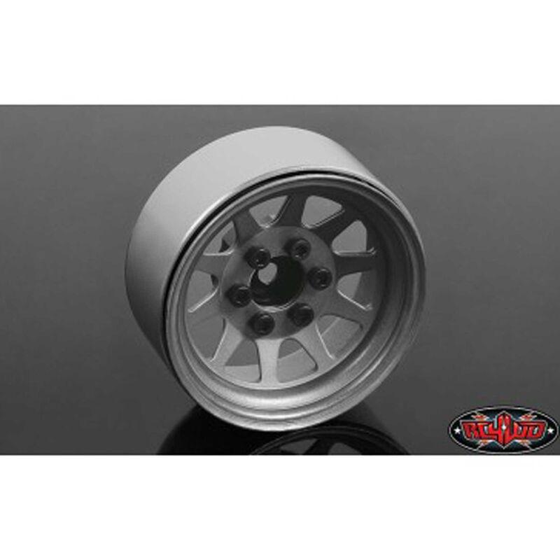 """OEM Stamped Steel 1.9"""" Beadlock Wheels, Plain"""