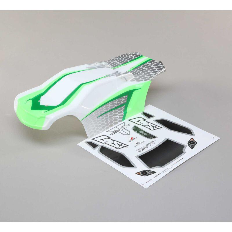 1/10 Painted Body Set, White/Green: TENACITY T