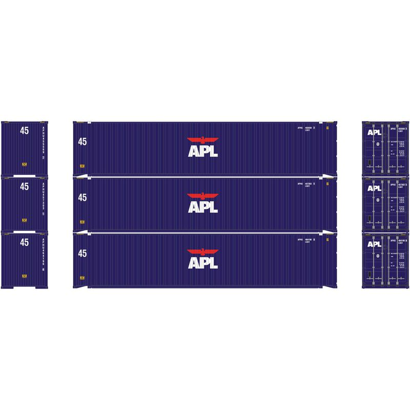 HO RTR 45' Container APL (3)