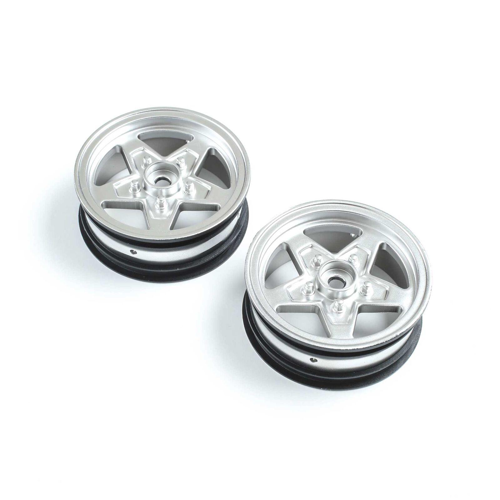 Front Wheel, Satin Chrome (2): 22S Drag