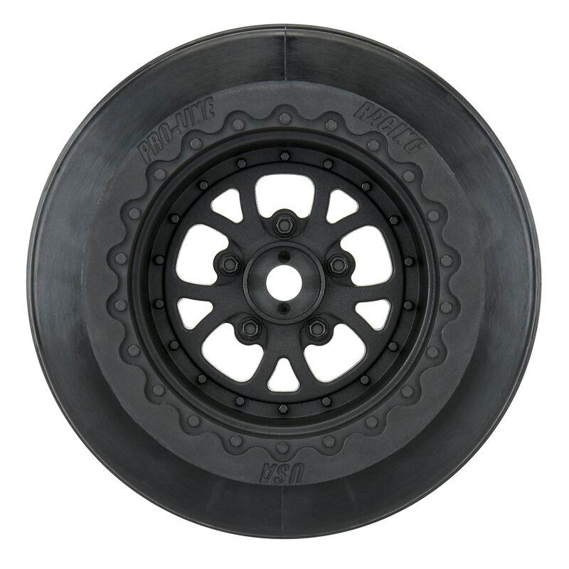 "1/10 Pomona Drag Spec Rear 2.2""/3.0"" 12mm Drag Wheels (2) Black"