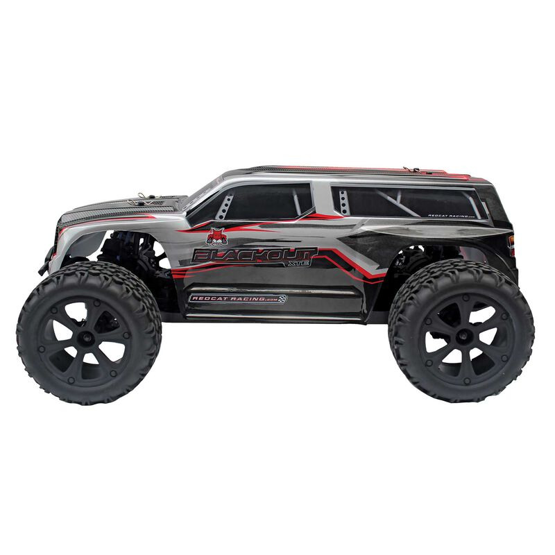 1/10 Blackout XTE 4WD Monster SUV Brushed RTR, Silver