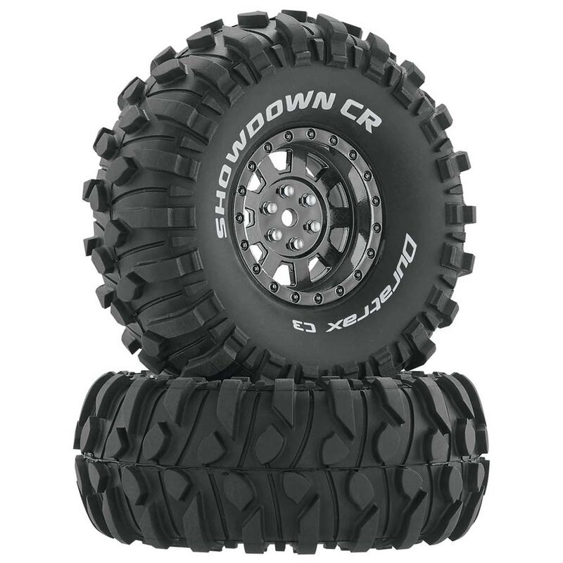"Showdown CR C3 Mounted 1.9"" Crawler Black Chrome (2)"