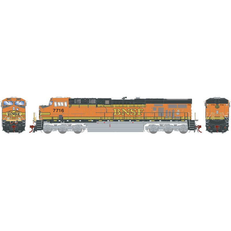 HO ES44DC BNSF Faded H1 #7716