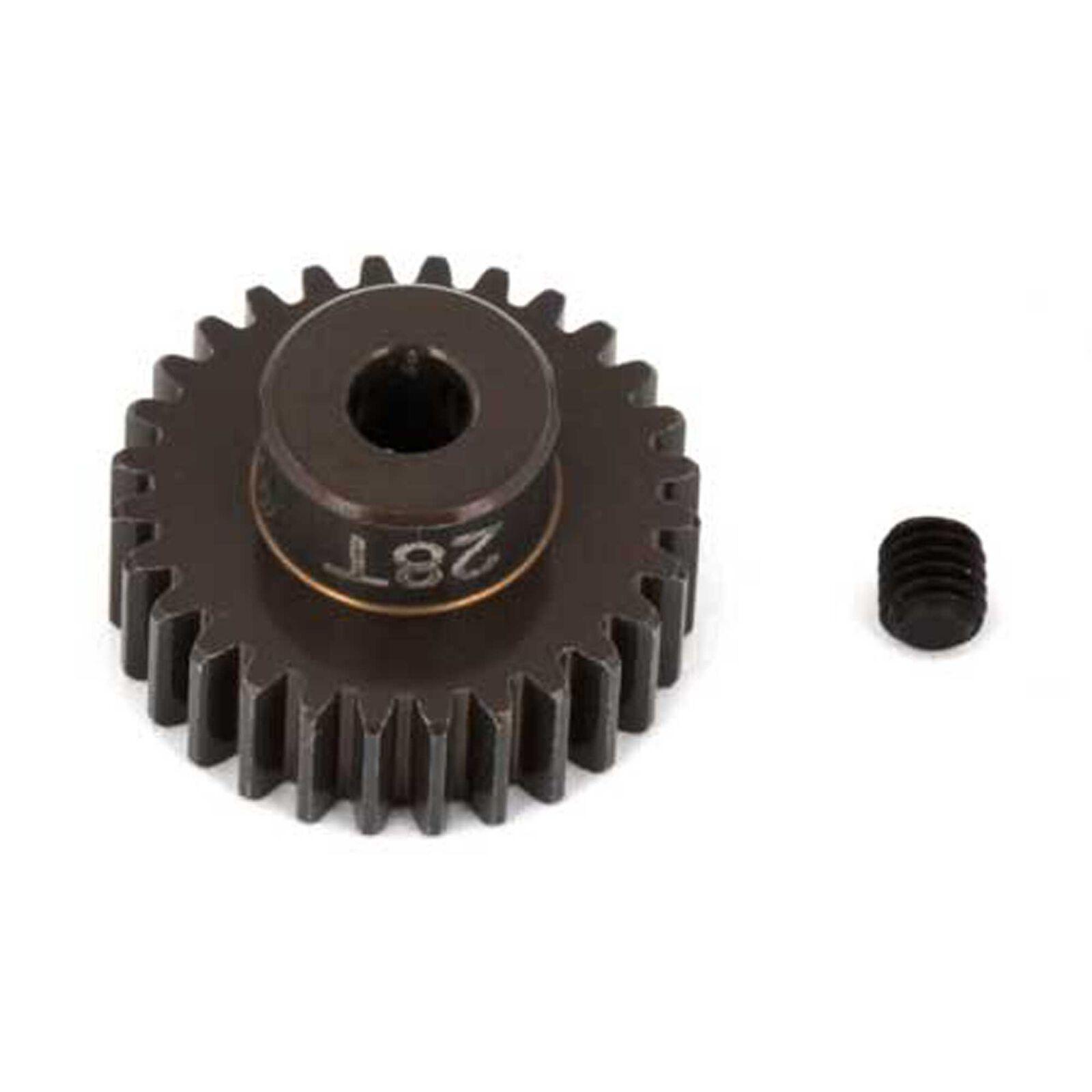 Factory Team Aluminum Pinion Gear, 28T, 48P, 1/8 shaft