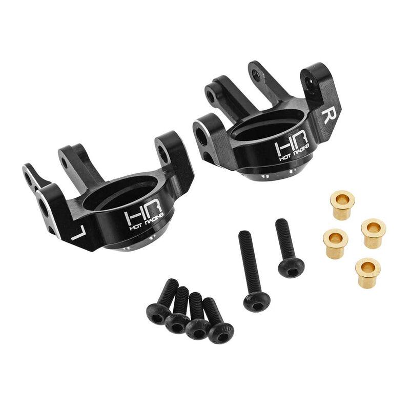 Aluminum Steering Knuckles, Black: SCX10 II