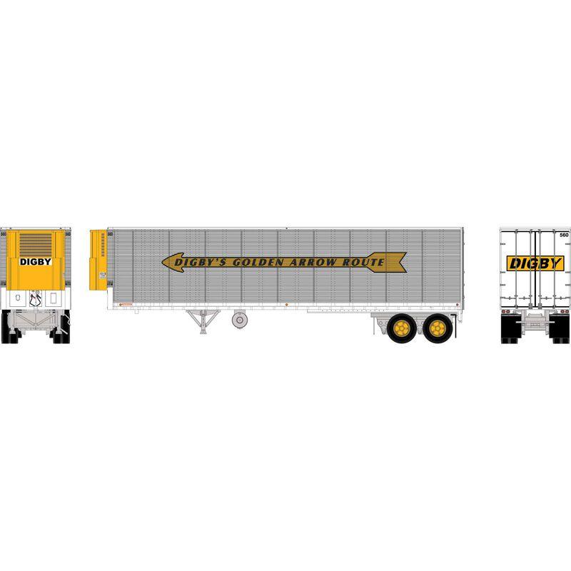 HO RTR 40' Fruehauf Z-Van Trailer, Digby #560