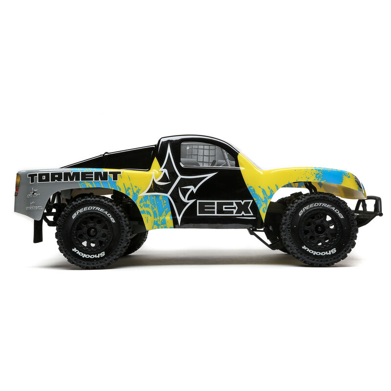1/10 Torment 2WD SCT Brushed with LiPo RTR, Yellow/Blue