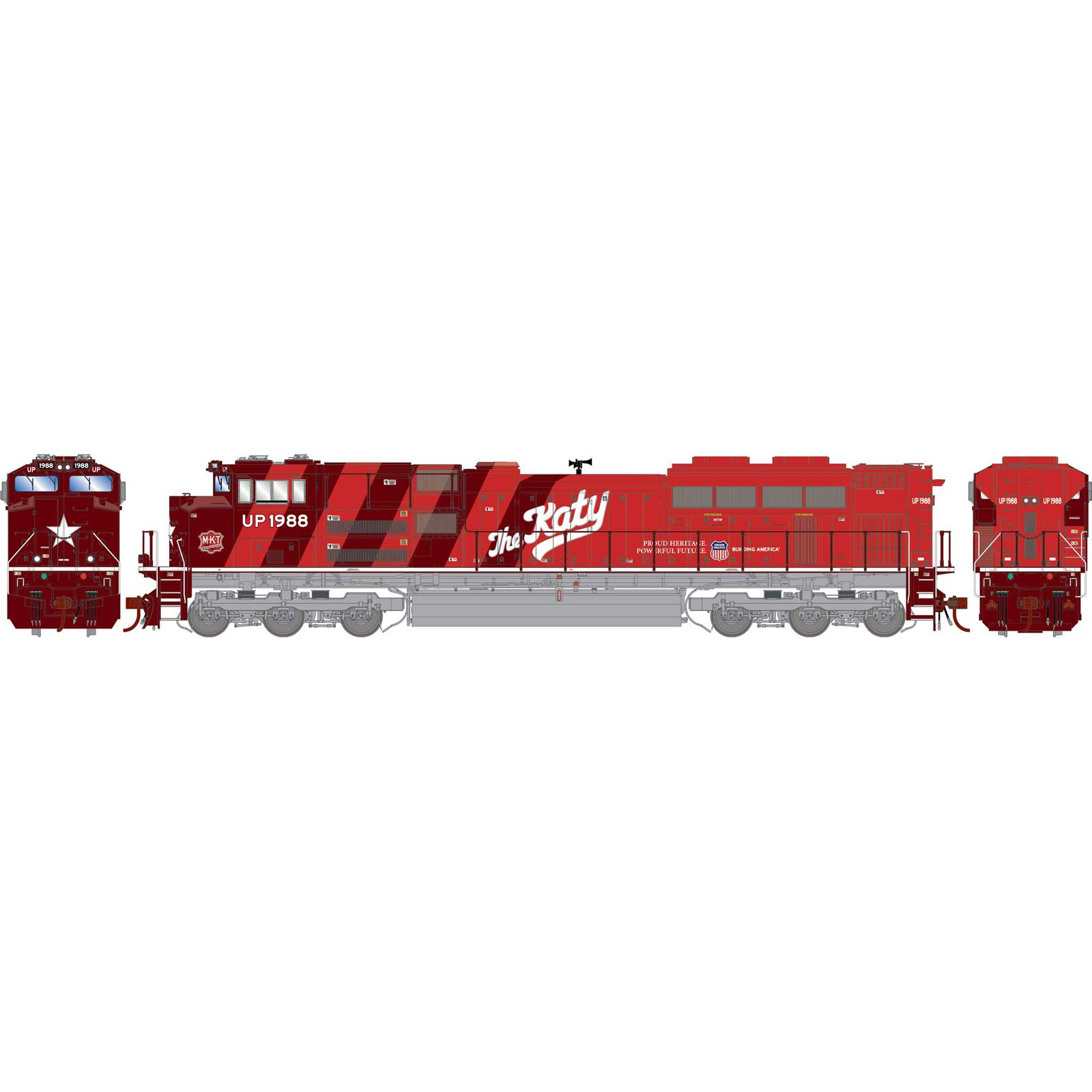 HO G2 SD70ACe, UP/MKT/Heritage Repainted #1988