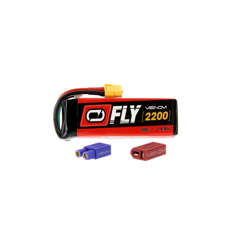 14.8V 2200mAh 4S 30C FLY LiPo Battery: UNI 2.0 Plug