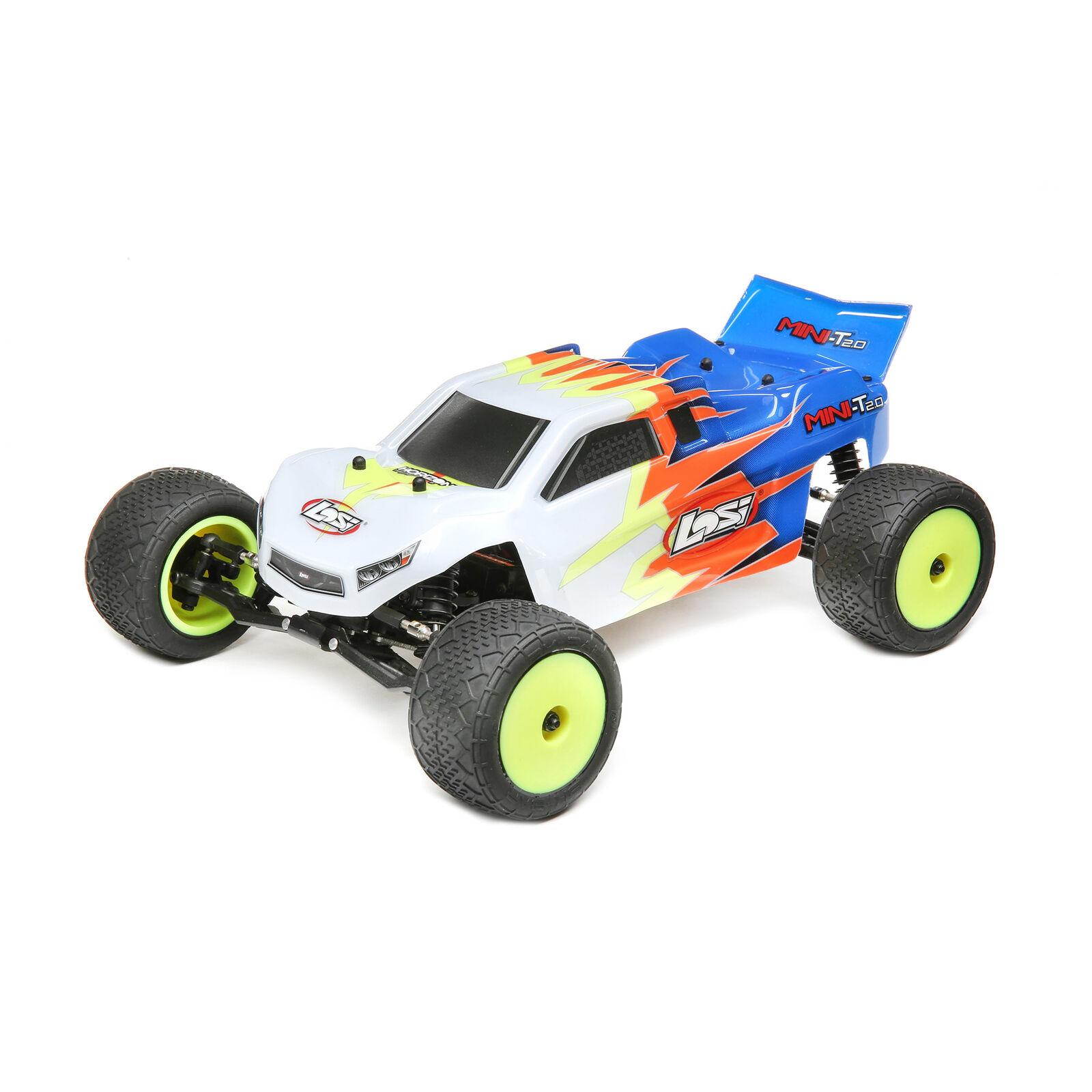 1/18 Mini-T 2.0 2WD Stadium Truck Brushed RTR, Blue/White