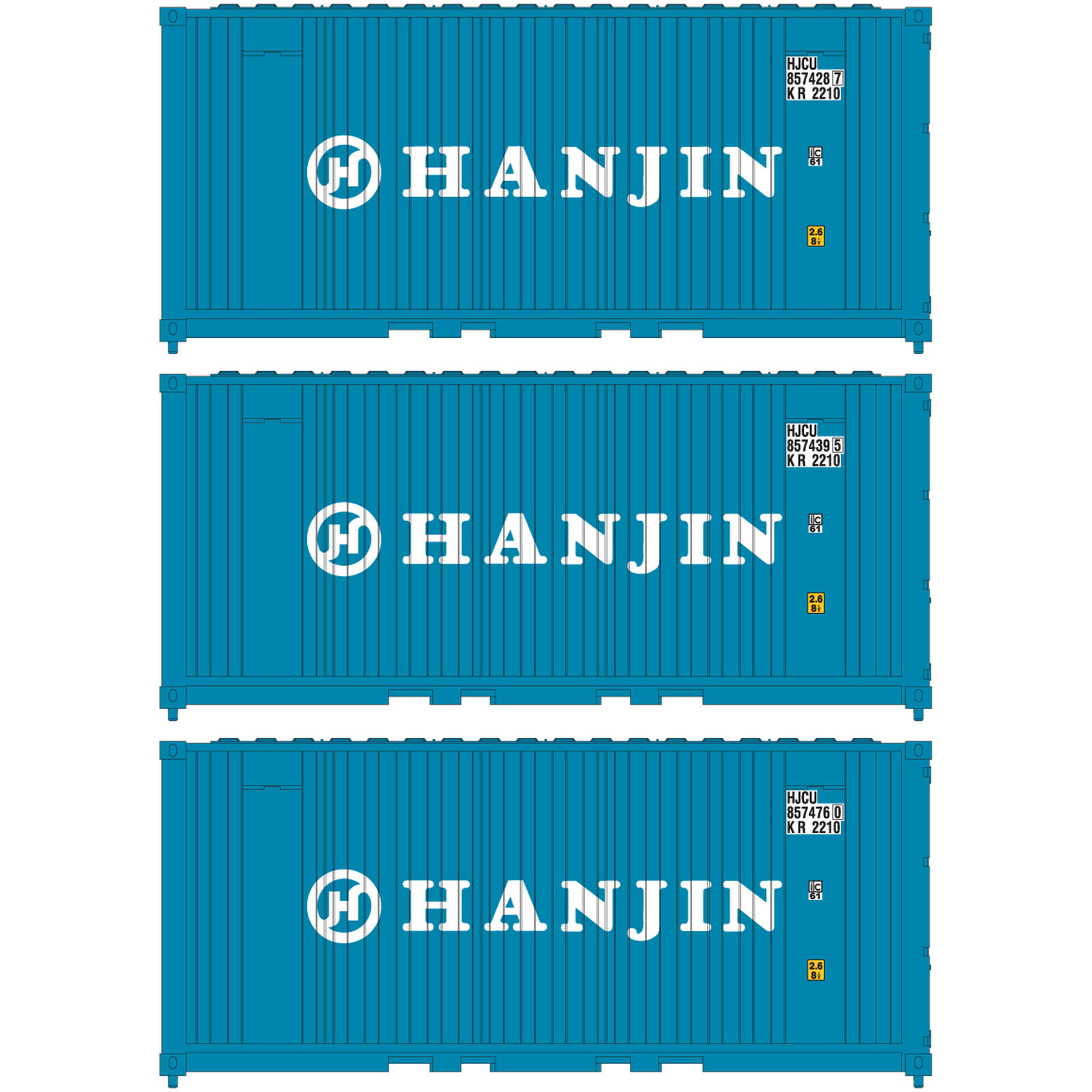 N 20' Corrugated Container Hanjin (3)