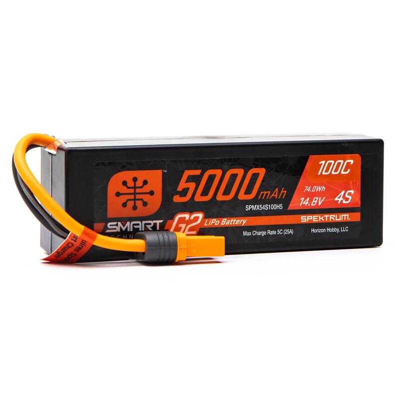 14.8V 5000mAh 4S 100C Smart G2 Hardcase LiPo Battery: IC5