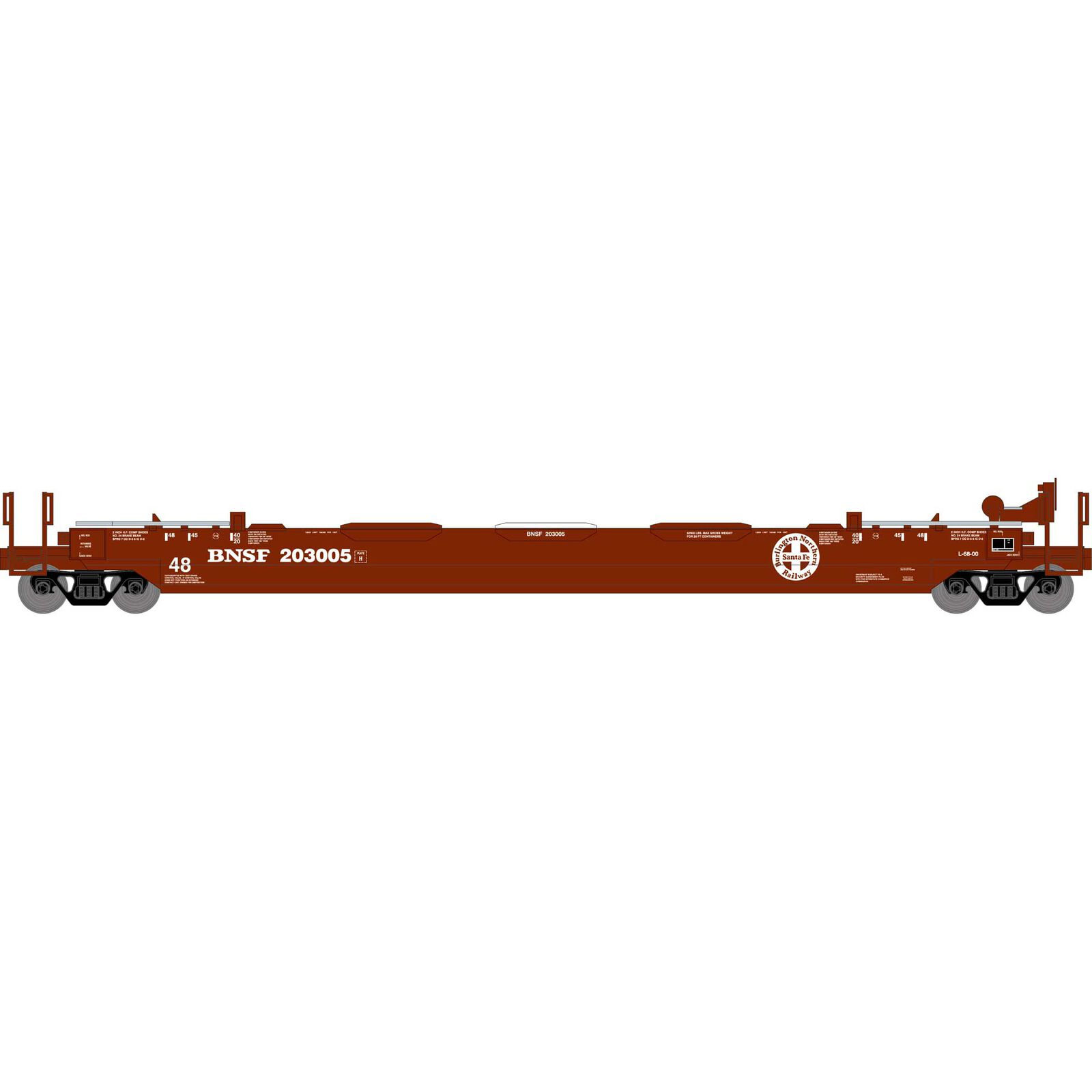 HO RTR 48' Husky Stack Well, BNSF #203005