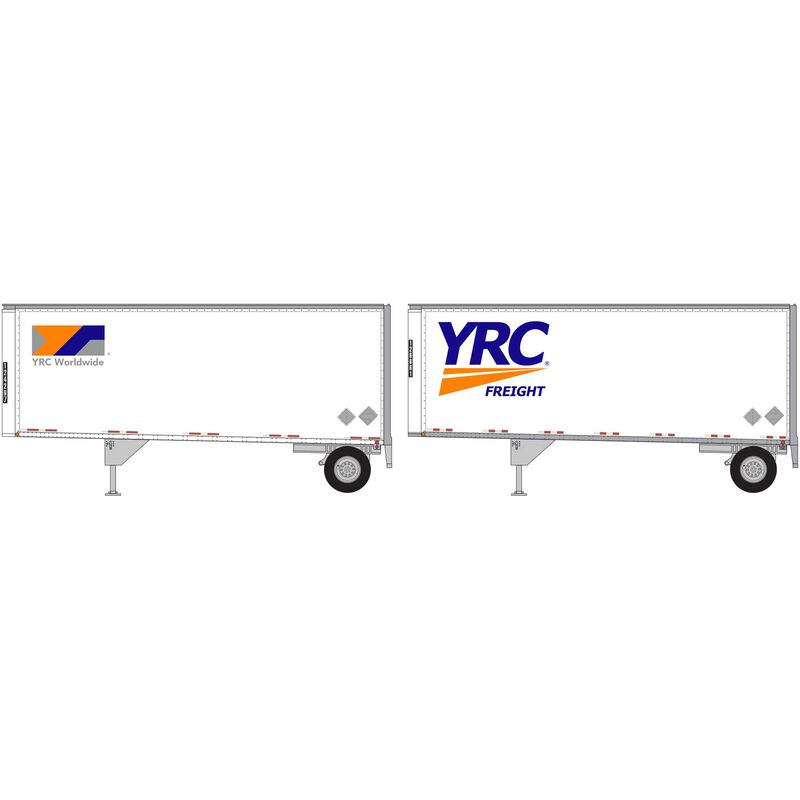 HO RTR 28' Trailers with Dolly YRC (2)