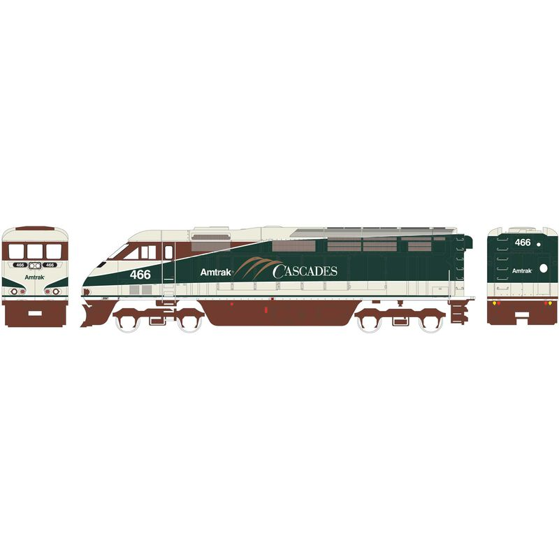 N F59PHI with DCC & Sound Amtrak #466