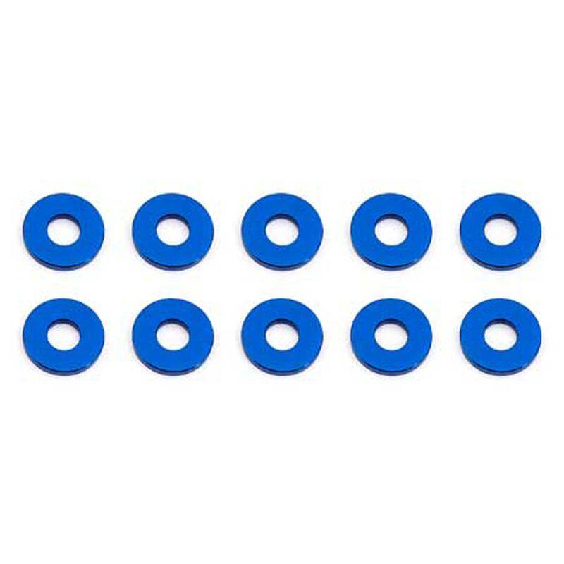 Bulkhead Washers, 7.8x1mm, Blue Aluminum (10)