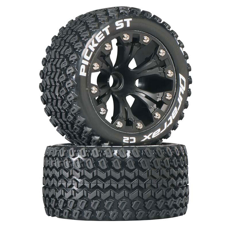 """Picket ST 2.8"""" 2WD Mounted Front C2 Tires, Black (2)"""