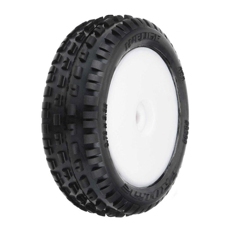 Wedge Carpet Mounted Front Tires, White: Mini-B