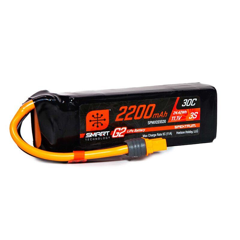 11.1V 2200mAh 3S 30C Smart G2 LiPo Battery: IC3