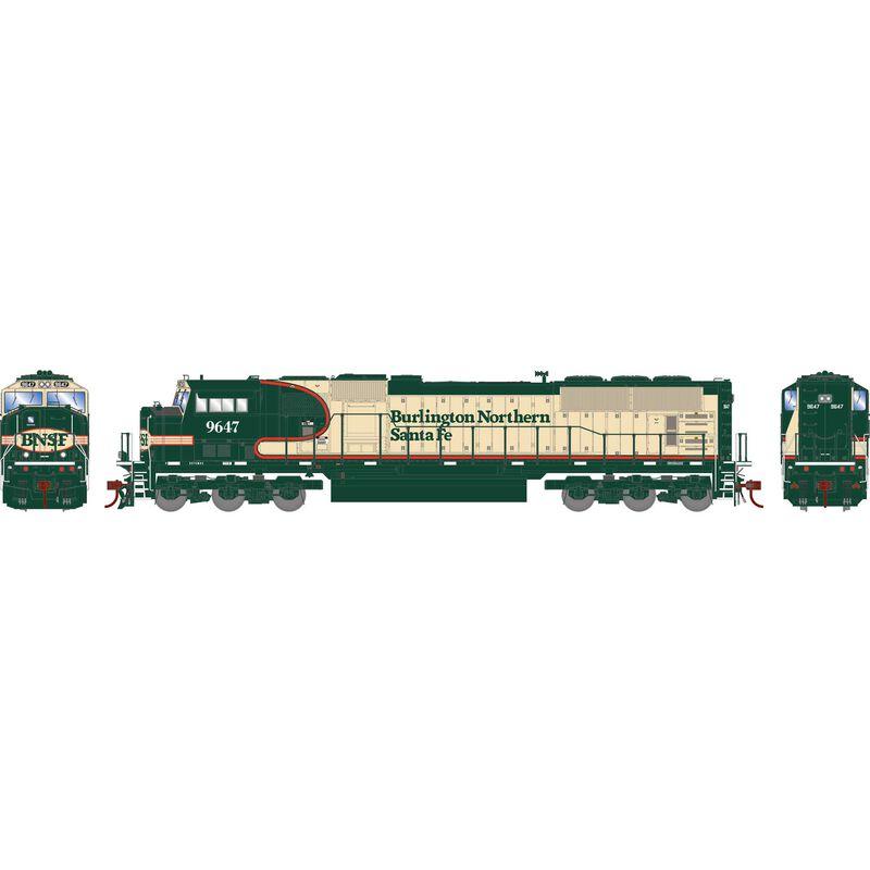 HO SD70MAC BNSF #9647