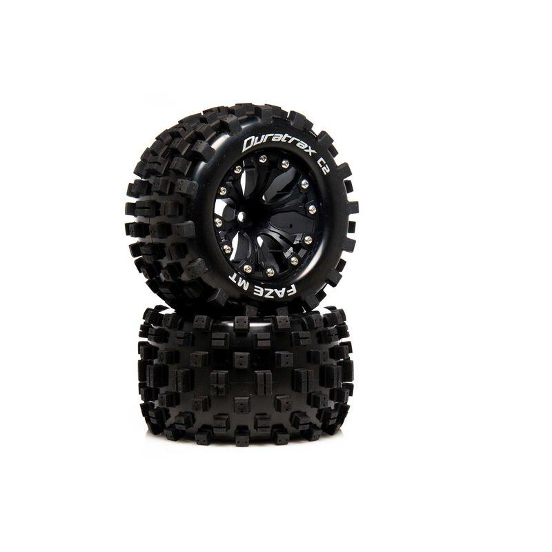 FAZE MT 2.8 2WD Mounted R C2 .5 Offset Black (2)