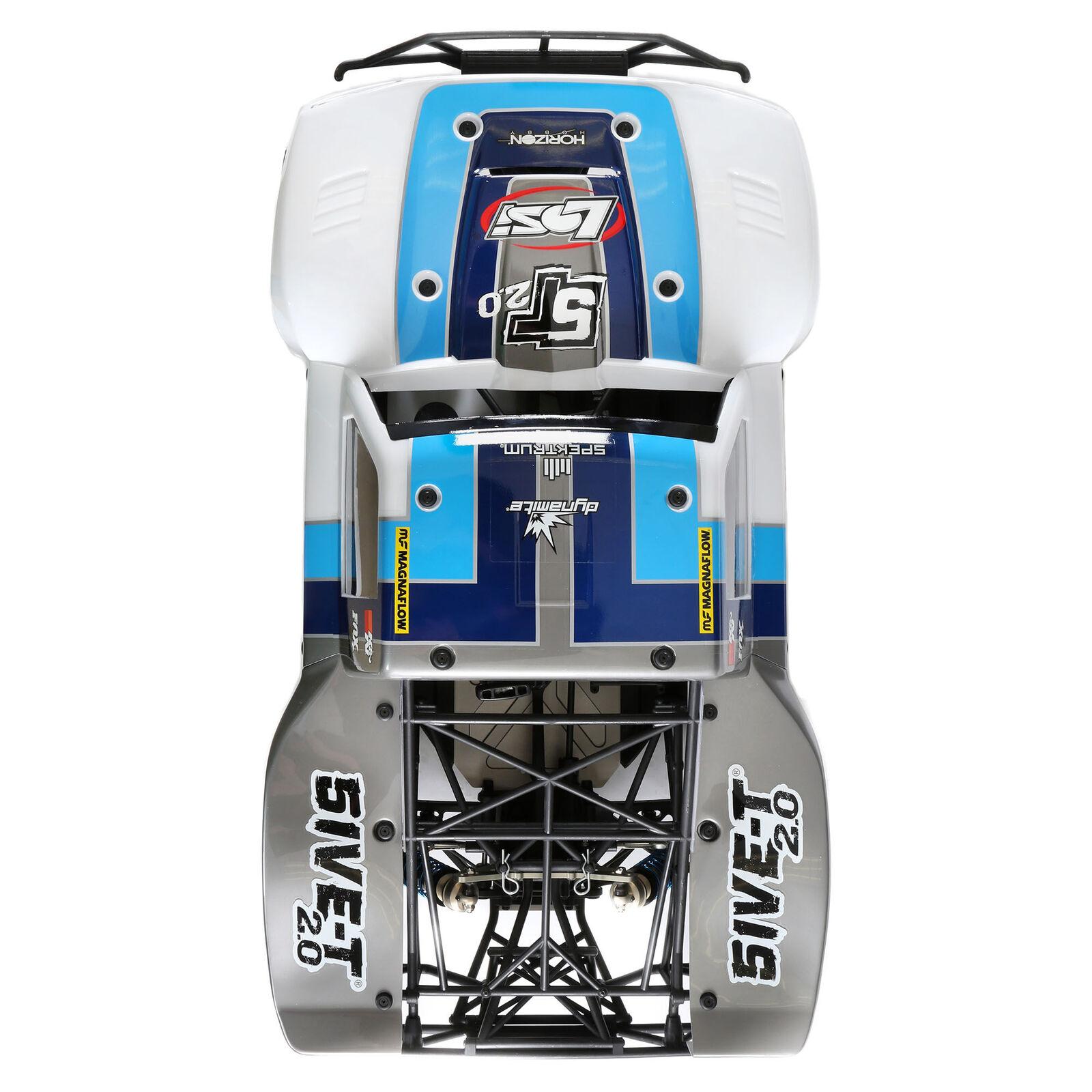 5IVE-T 2.0 V2: 1/5 4wd SCT Gas BND: Gry/Blu/Wht