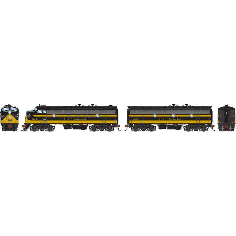 HO FP7A F9B with DCC & SND SLSF Blk & Yel #5047 #5133