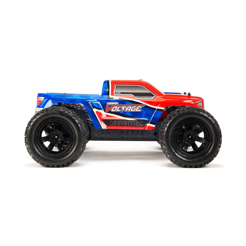 1/10 GRANITE VOLTAGE  2WD Brushed Mega Monster Truck RTR, Red/Blue