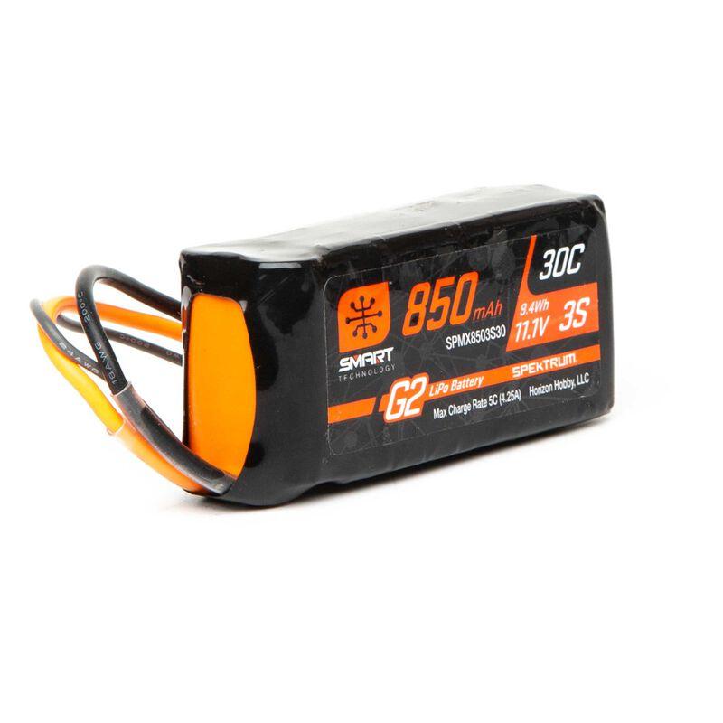 11.1V 850mAh 3S 30C Smart LiPo Battery G2: IC2