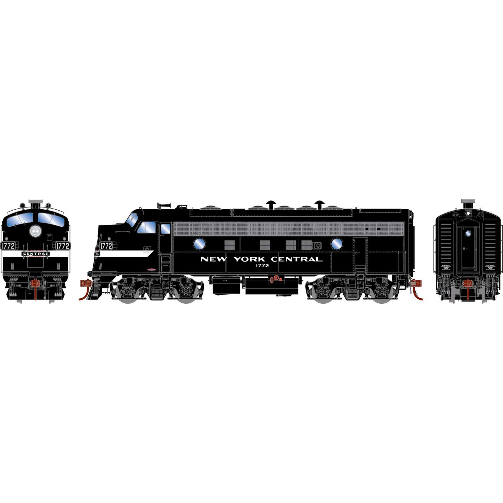 HO F7A NYC Freight #1772