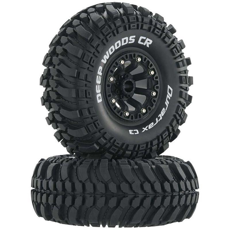 "Deep Woods CR C3 Mounted 2.2"" Crawler Tires, Black (2)"