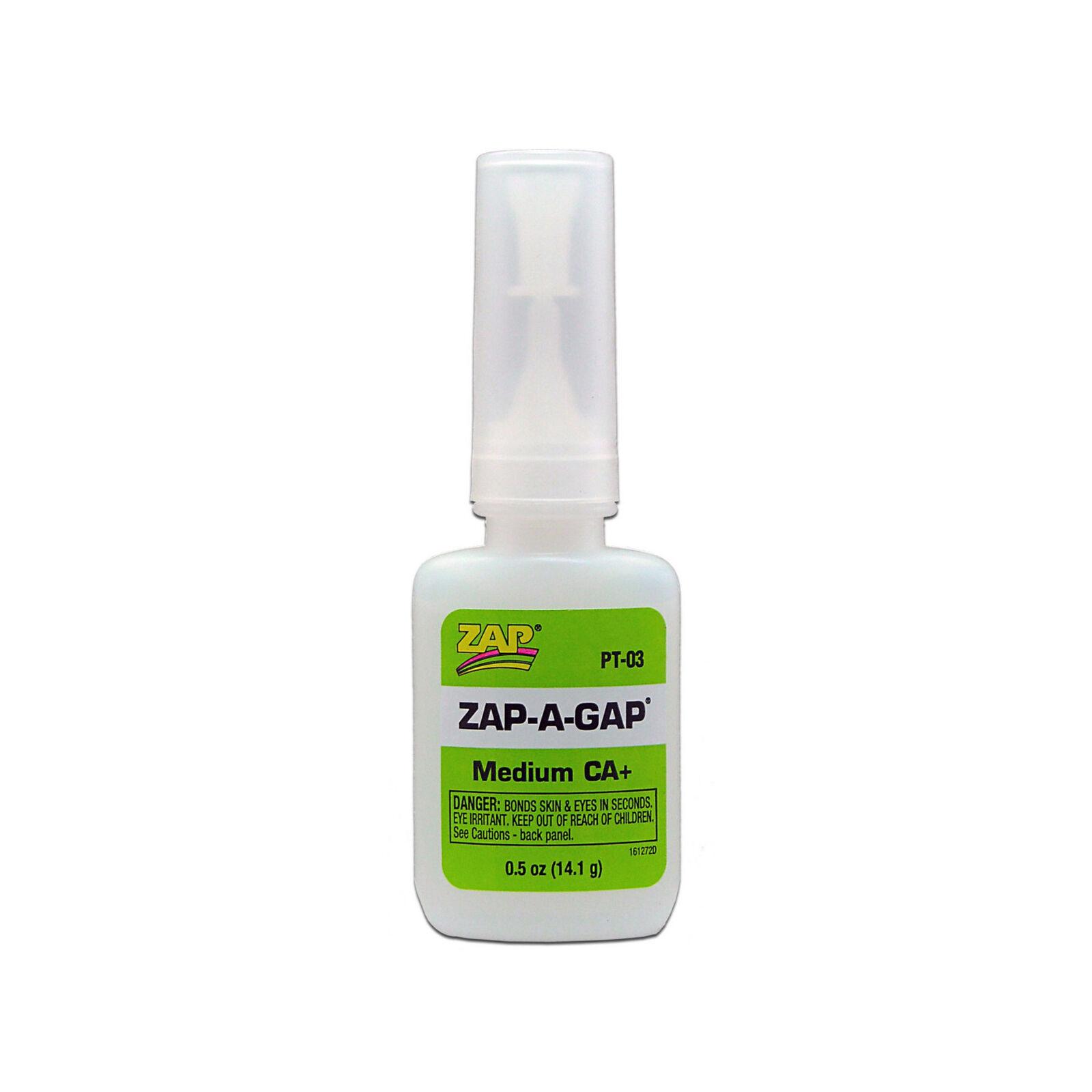 Zap-A-Gap Medium CA+ Glue, 1/2 oz