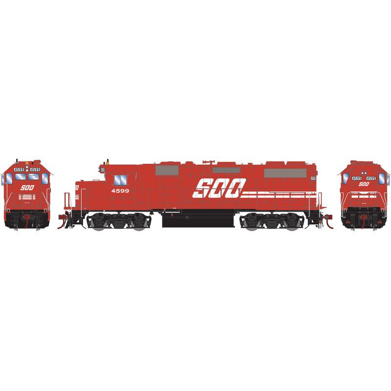 HO GP39-2 SOO Red #4599