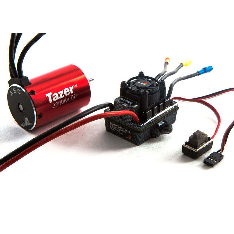 Tazer 1/10 6-Pole Waterproof ESC/Brushless Motor Combo V2, 3300Kv: 3.5mm Bullet, EC3