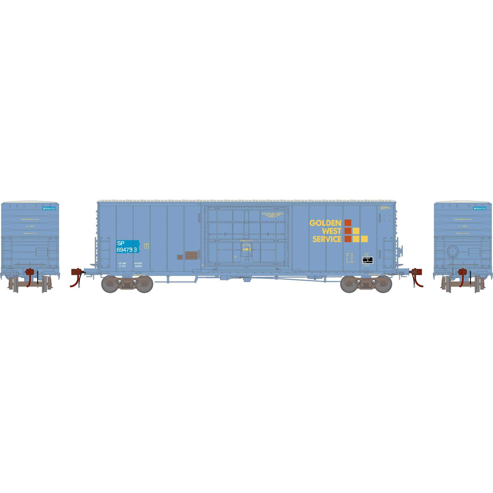 HO 50' PC&F SS Box with 14' Plug Door, GWS/SP #694793