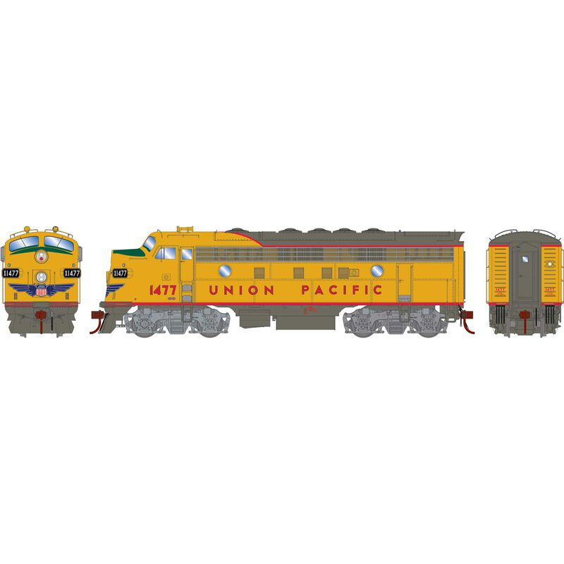 HO F7A with DCC & Sound UP Freight #1477