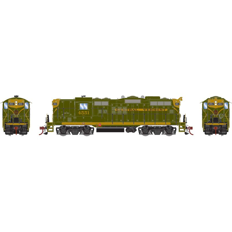 HO GP9 with DCC & Sound CV, Green/Gold #4551