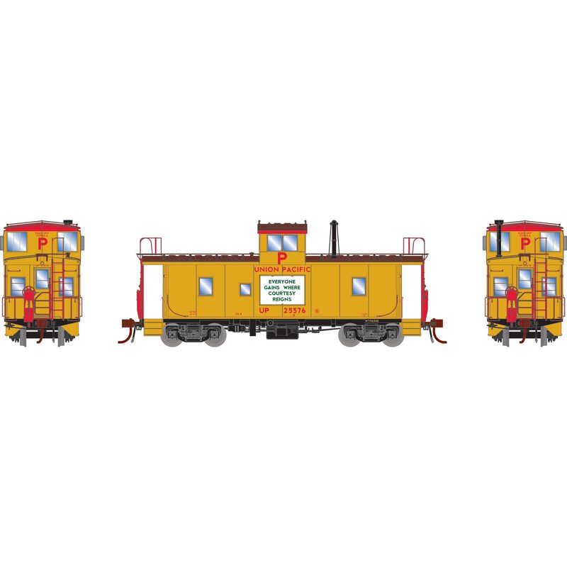 HO CA-8 Early Caboose with Lights UP #25576