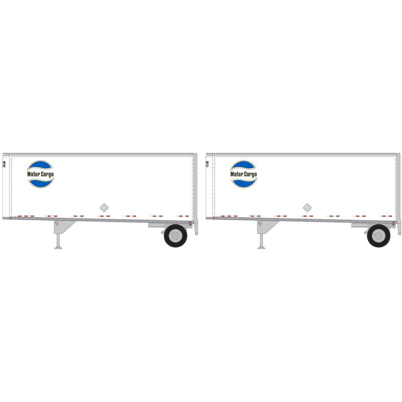 HO RTR 28' Trailers with Dolly Motor Cargo (2)