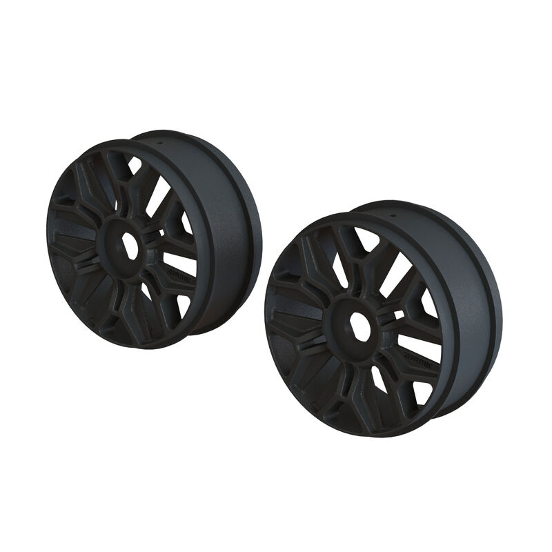 1/8 Front/Rear Buggy 3.3 Wheel, 17mm Hex, Black (2)