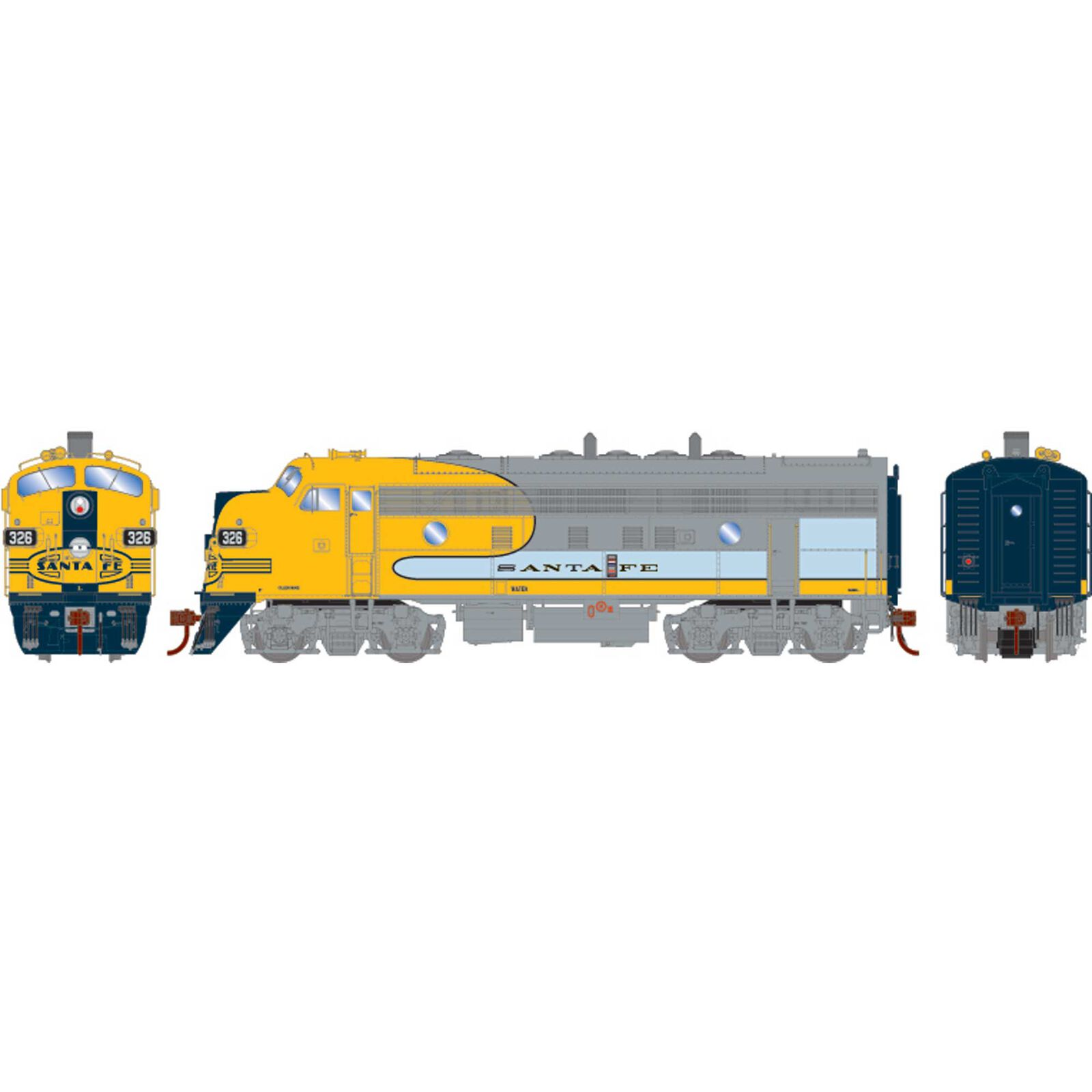 HO F7A with DCC & Sound SF Dual Service #326L