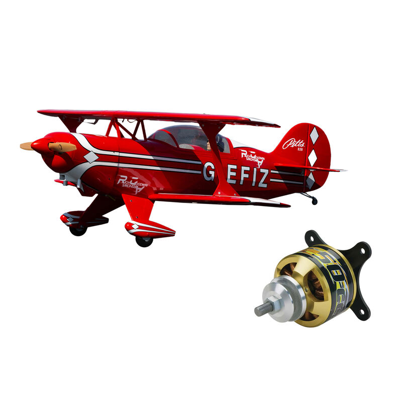 Pitts S-2B 50-60cc with Rimfire 50cc Electric Motor