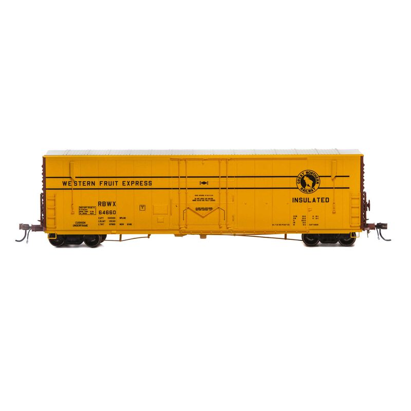 "HO 50' PC&F Welded Box with 10' 6"" Door RBWX #64660"