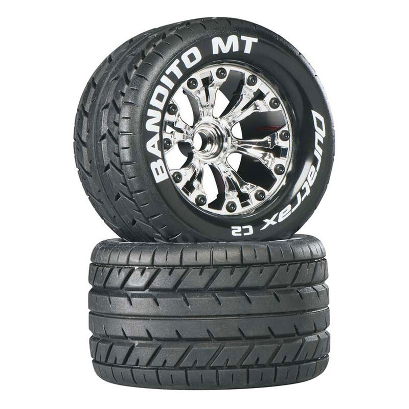 "Bandito MT 2.8"" 2WD Mounted Front C2 Tires, Chrome (2)"