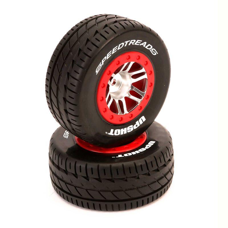 SpeedTreads Upshot SC Tire Front Mounted (2): Traxxas Slash
