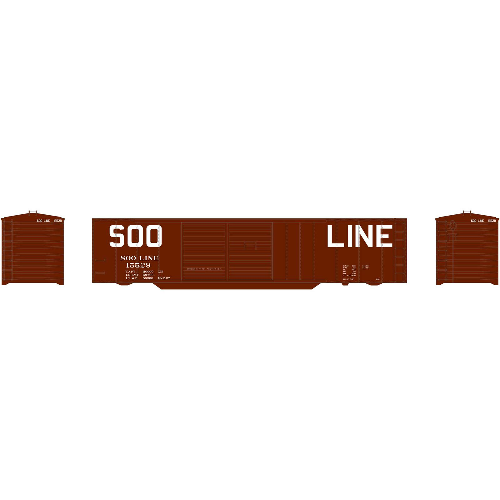 N 50' Double Sliding Door Box SOO #15529