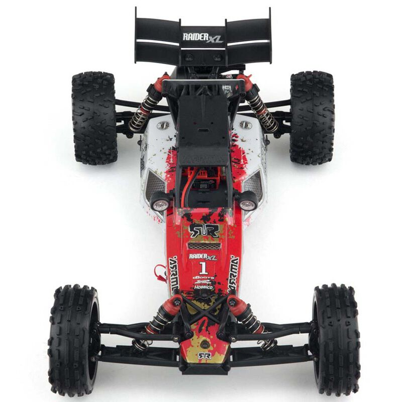 1/8 RAIDER XL 2WD Mega Brushed Buggy RTR, Red/White